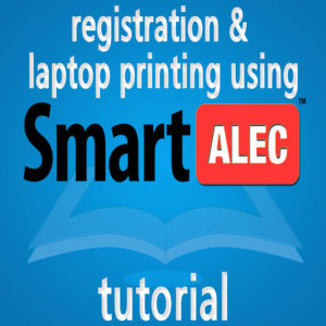 Registration & laptop printing using SmartALEC - tutorial